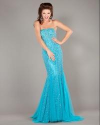 ccf18cb65ff9 Citra plesové šaty s korálky modré