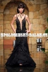 dark lady společenské luxusní šaty černé be89f6a8dc