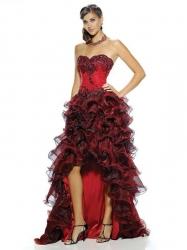 5896ee2a261 Diabole sexy červenočerné plesové šaty n.