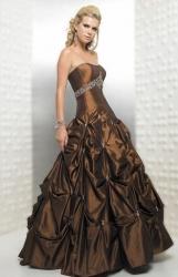 e3cf343f0f1f hnědé plesové šaty na maturitní ples Nig.
