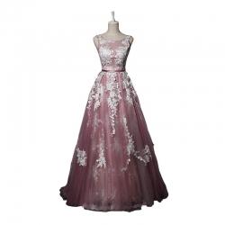 5d44ab144974 z plesové šaty růžové tylové holá záda n.