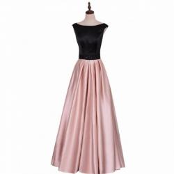 růžovočerné plesové šaty saténové 1b29ab5bd7