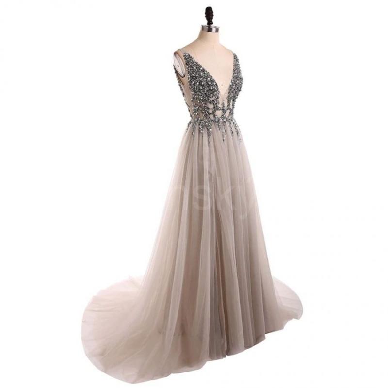 andělské tylové stříbrné plesové šaty sexy e2c0fb25d6