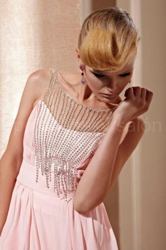 97f67ee17d86 Code plesové šaty šité na míru růžové 1122