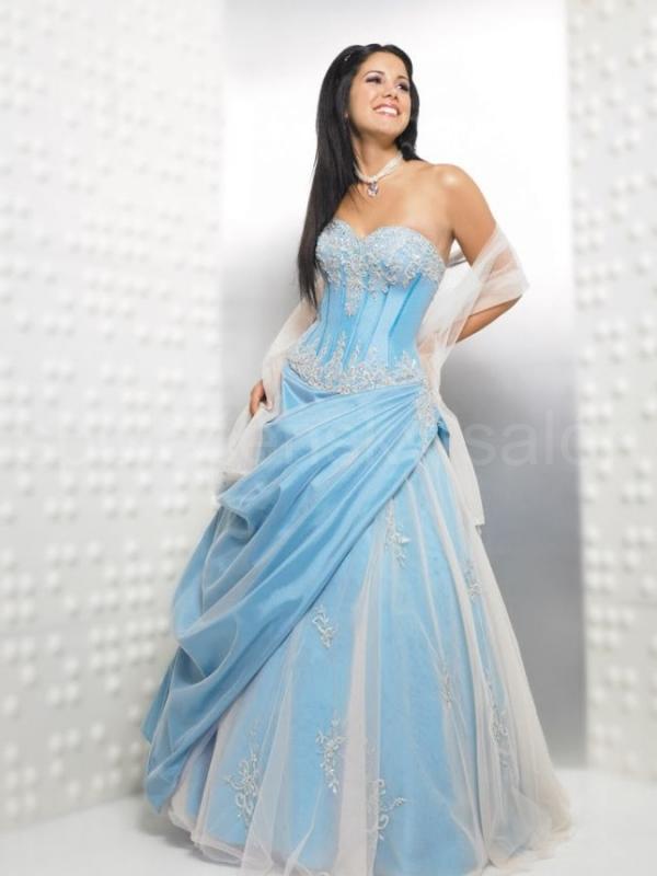 125eaa4b60ed luxusní plesové šaty na míru - sexy - světle modré