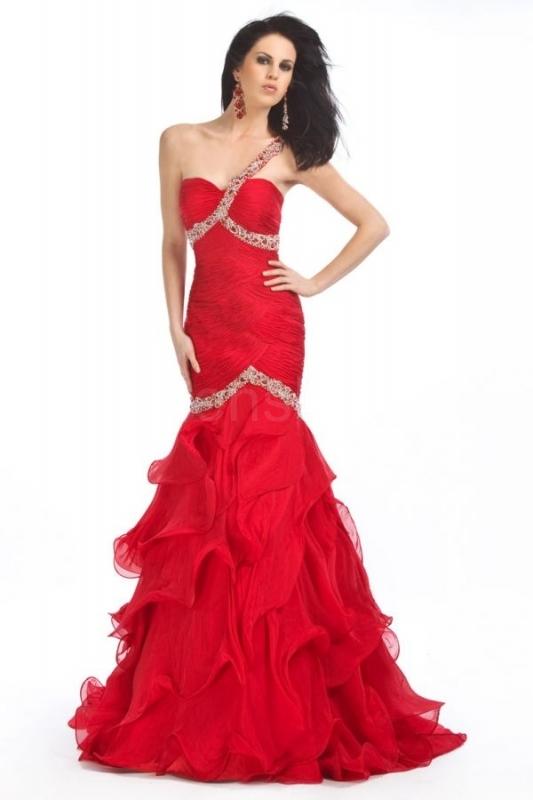 šaty na maturitní ples červené 07aa2060c74