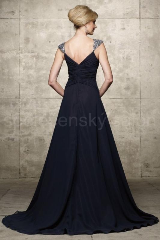 29170911d5d šaty na maturitní ples tmavě modré