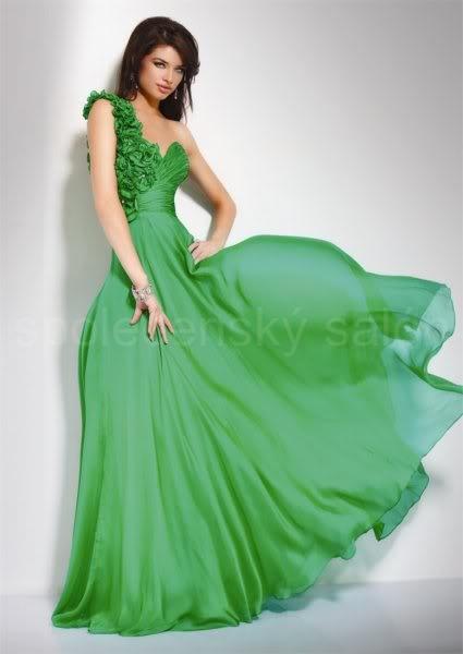 šaty na maturitní ples Yvette zelené f57b4c52dd