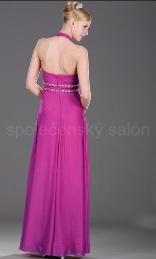 společenské šaty ramínko za krk 4b9090a7c3